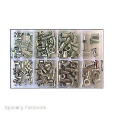 Assorted Metric Aluminium & Steel Nutsert Rivnut Rivet Nuts