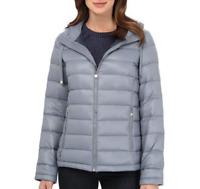 Calvin Klein Blue/Gray Packable Down Coat Women's Size S 85337