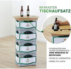 Bierkasten Tischaufsatz Stehtisch Garten Party Holzaufsatz Biertisch Bistrotisch