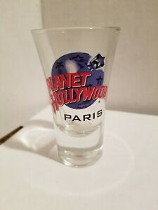 """Planet Holleywood Paris 3 1/2"""" Double Tall Shot Glass"""