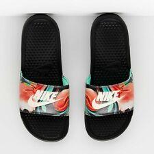 Nike Womens Benassi JDI Print Sliders Slip On Slides Sandals Black Floral Print