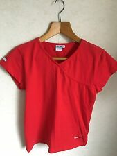 Ladies Red Cotton Cross-Over T-Shirt Size L by Tog 24
