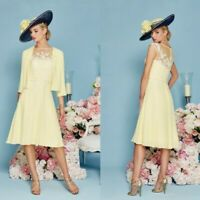 Mother Of The Bride Dresses Suits Guest Gowns With Jackets Outfits Knee Length