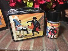 WOW!! VTG. 1958 ZORRO METAL LUNCH BOX W/MATCHING THERMOS BY ALADDIN