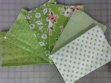 Moda Olives Flower Market Fabric Fat Quarter Bundle Lella Boutique in Green