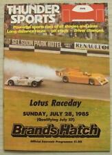 BRANDS HATCH 27/28 Jul 1985 THUNDER SPORTS LOTUS RACEDAY A4 Official Programme