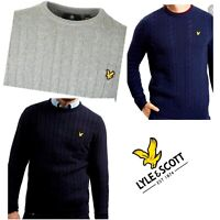 Lyle and Scott Cotton Mixed Cable Jumper ----Warm for Winter