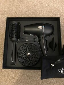GHD Professional Powerful Salon Styling Hair Dryer Blower With Air Style Kit Inc