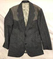 Pendleton Wool Western Sport Coat Blazer Gray Men 42 Long *See Description*
