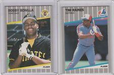1989 Fleer Glossy Tim Raines Bobby Bonilla Pirates Expos