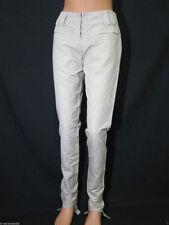 Pantaloni da donna in cotone beige taglia 40