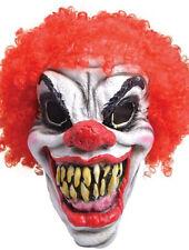 Halloween IT Killer Clown Mask Red Curly Hair Kit Fancy Dress Creepy Circus Wig