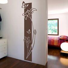 Wandtattoo Wandbanner Blumen Pflanze mit SWAROVSKI Wohnzimmer Schlafzimmer Flur