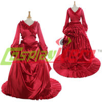 Bram Stoker's Dracula Mina Harker's Red Bustle Fancy Dress Adult Women Halloween