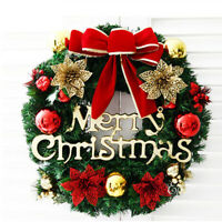 Weihnachtskranz Familie feiern Wand Tür hängen Ornament Party Decor Prop 30cm
