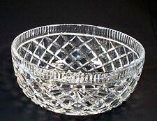 "Waterford Killeen 8"" Crystal Round Bowl Diamond Pattern Centerpiece Ireland"