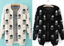 Cardigans GOTH PUNK EMO ROCKABILLY TATTOO SKULL Dance Rave Club Coat Jacket BNWT