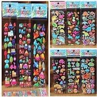 10X/Lot Bubble Stickers 3D Cartoon KIds Classic Toy Sticker School Reward gift T
