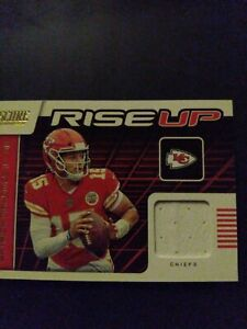 PATRICK MAHOMES JERSEY PATCH 2020 SCORE RISE UP GAME USED #RU-PM CHIEFS SP
