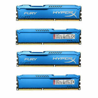 16GB 4x4GB DDR3 PC3-10600 1333 MHz Kingston HyperX FURY DIMM Desktop Memory 1.5V