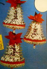 Vintage Holiday Beaded Sequins Christmas Ornament Kit SILVER BELLS Sealed