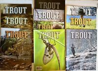 Rate Trout Fishing Magazine Lot Of 10 2012 - 2014 Fish Angler Man Cave Lures Ads