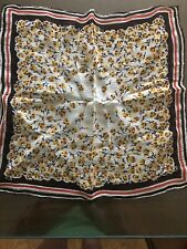 Vintage Handkerchief With Yellow Flowers.