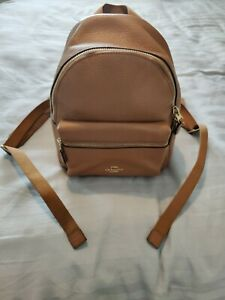 Coach Small Charlie Backpack. Tan. **Excellent condition**