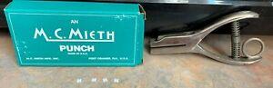 Vtg  M.C. Mieth 402 Railroad Ticket Promotions Punch~Letter H~Original Box~USA
