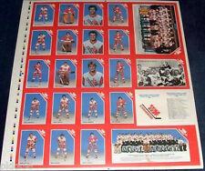 1983 CANADA JR. SET UNCUT SHEET LEMIEUX/YZERMAN rookies
