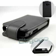 Black Flip PU Leather Holster Cover Case Skin For Samsung Galaxy Y Duos S6102