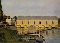 Perfect Oil painting Alfred Sisley - The Machine at Marly stunning landscape