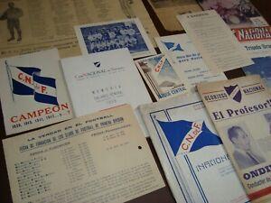 Early old prints books etc vintage original Soccer Football Uruguay Nacional CNF