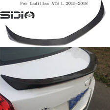 Carbon Fiber Rear Spoiler Trunk Wing spoiler D3 Type For Cadillac ATS 2015-2018
