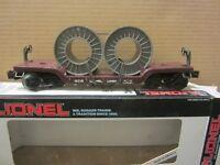 LIONEL LIONEL LINES DEPRESSED CENTER FLAT CAR 16318 W/2 COIL LOAD