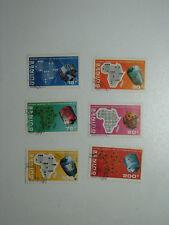 Set of 6 Stamps Republique de GUINEE 1972 Guinea Space Telecommunication UIT