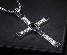 Vin Diesel Kreuz 7,5 cm Anhänger Edelstahl Fast and Furious Halskette Kette