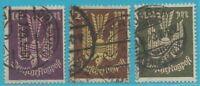 Imperio Alemán De 1923: Sellos de Correo Aéreo Paloma de Madera Minr. 235-237