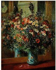 Auguste Renoir BOUQUET IN FRONT OF MIRROR 1960s Vintage art print Impressionism