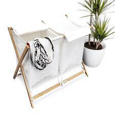 Wäschesammler Wäschesortierer faltbar Bambus blickdicht Deckel umweltschonend