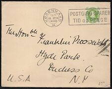 DENMARK #210 ON COVER ADDRESSED TO GOV. FDR (EX-FDR COLLECTION) BR8462