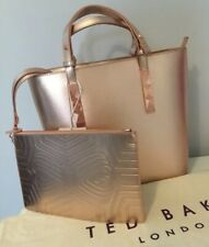 Ted Baker Large Leather Tote Bag Rose Gold BNWTS RRP £160