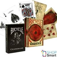 2 DECKS BICYCLE 1 GUARDIANS AND 1 VINTAGE CLASSIC PLAYING CARDS MADE IN USA NEW