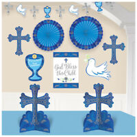 FIRST COMMUNION ROOM Party Decorations Table Wall Banner Religious Ceremony Boys