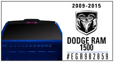 TRUCK CAB SPOILER Wing MATTE BLACK 982859 For: DODGE RAM 1500 2009-2017