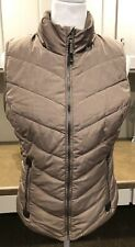 GREEN TEA QUILTED PUFFER VEST Size S Women's Camel Tan  *SOFT LINING*  Zip Warm