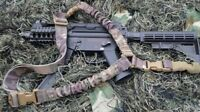 HEAVY DUTY Single Point One Point Sling Tactical Rifle Gun Sling - CAMO COLOR