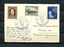 Österreich - Christkindl von 1955, Karte nach Liechtenstein    (#516)