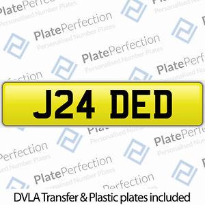 J24 DED JADED JADE CHERISHED PRIVATE NUMBER PLATE DVLA REGISTRATION