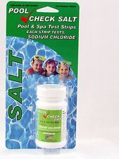 Pool Check Salt Test Strips, 1500 - 7000ppm Detection Range, 16 Tests per Bottle